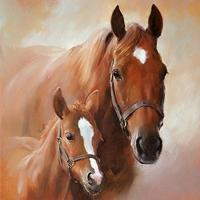 Servetten Ambiente 1330_7350 Paard en veulen (foto)