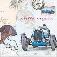 Servetten Ambiente 1330_9175 Mille Miglia oude racewagen