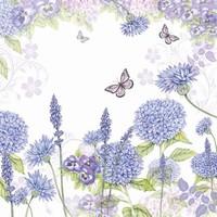 Servetten Ambiente 1330_9310 Wilde bloemen paars