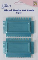 Nellie's Choice Art Combs (2x) Mixed Media NMMC001 11x7cm per tool