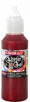 Collall/Colorall 3D Deco Glittergel DG104 Rood (grote fles) 500 ml