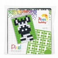 Pixelhobby medaillon startset: 23013 Zebra