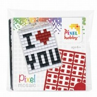 Pixelhobby medaillon startset: 23016 I love you