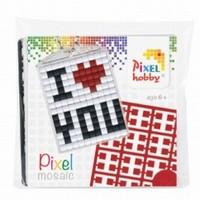Pixelhobby 23016 medaillon startset I love you