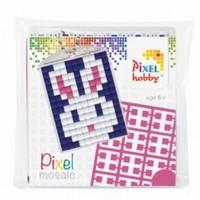 Pixelhobby 23010 medaillon startset Konijntje/Haasje