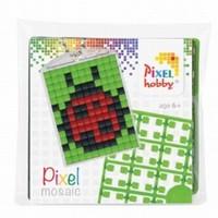 Pixelhobby 23015 medaillon startset Lieveheersbeestje