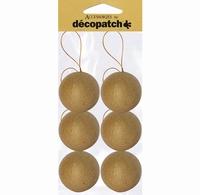 Decopatch NO006 Papier mache kerstballen 6cm set 6 stuks 6 cm