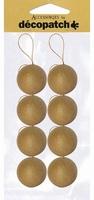 Decopatch NO007 Papier mache kerstballen 5cm set 8 stuks 5cm