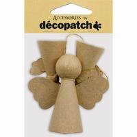 Decopatch NO010 Papier mache engeltjes 3 stuks 2x5,5cm/1x9cm