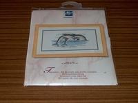 Borduurpakket Dolfijnen 30x15cm OP=OP 30% KORTING