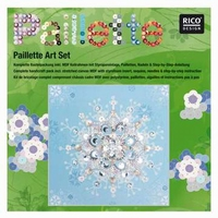 Pailletten Art pakket ijskristal op canvas doek 30 x 30 cm