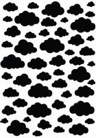 Nellie's Choice Mixed Media Stencil NMMS007 Clouds