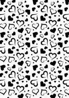 Nellie's Choice Mixed Media Stencil NMMS002 Hearts