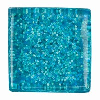 Glittermozaiek Soft Glas Azurblau RD-7060.510 10mm/ca200stuks