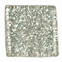 Glittermozaiek Soft Glas Silber RD-7060.465 10mm/ca200stuks