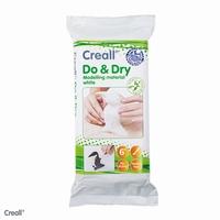 Creall Do & Dry wit, zelfhardende poppenklei op papierbasis 500gram