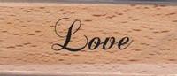 Stempel op hout SH-3609 Love