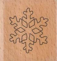 Stempel op hout SH-3654-Sneeuwvlok