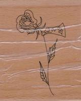 Stempel op hout SH3624 Love Roos