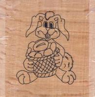 Stempel op hout SH3632 Paashaas