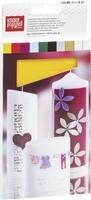Kaarsen wasplaat KP8301091 17,5x8cm assorti set