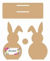 Dutch Doobadoo 460.440.370 MDF Napkinholder Bunny 18cm