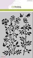 Mask Stencil CE185070_1235 Botanical rose garden