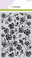 Mask Stencil CE185070_1010 Botanical roses A5 (20x15cm)