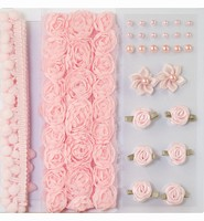 Pompoms & Flowers Embellishments H&C Fun 12214-1403 Rose set assorti
