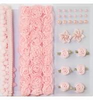 H&C Fun 12214-1403 Pompoms & Flowers Embellishments Rose