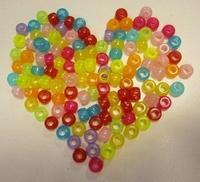 H&C Fun 12328-2803 Poney Beads Glow in the dark ca. 30gram 6x9mm/ca.30st.