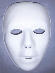 Gezichtsmasker wit dun kunststof kindermaat