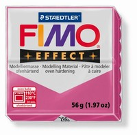 Fimo Soft 286 effect Gemstone Ruby Quarz - Robijnrood