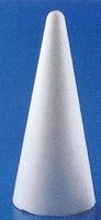 Styropor Kegel 20cm (onderkant doorsnede 9cm) 20cm hoog