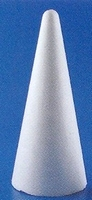 Styropor Kegel 20cm (onderkant doorsnede 9cm)
