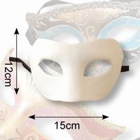 Venetiaans masker Olga Dol wit, 38101 Claire 12x15cm