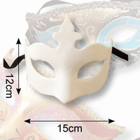 Venetiaans masker Olga Dol wit, 38103 Chloe 12x15cm