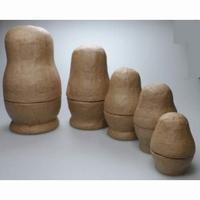 Papier-mache/Papershape Baboeska's (5stuks) DH790300