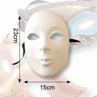Venetiaans masker Olga Dol wit, 38107 Gezicht vol 23 x 15 cm