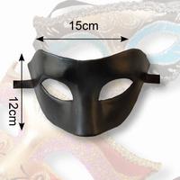 Venetiaans masker Olga Dol zwart, Man oogmasker 12x15cm