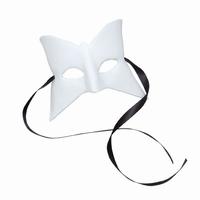Venetiaans masker Olga Dol wit, 38115 Vlinder