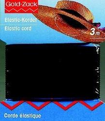 Elastiek zwart, hoedenelastiek dikte 1mm, 3 meter
