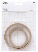 Paper Poetry 99000.63.21 Quilling MDF Cirkels dikte 8mm