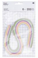 Paper Poetry 99000.63.09 Quilling stroken 8mm Pastel 8mm/200stuks