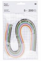 Paper Poetry 99000.63.10 Quilling stroken 5mm Multi 5mm/200stroken