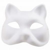 Masker Witte geperste papierpulp RD08793.50.50 Kat ca.18x17cm