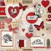 Servetten Ambiente 1330_9805 Love Ticket