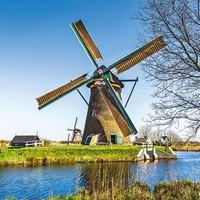 Servetten Ambiente 1331_0180 Nederlandse windmolen