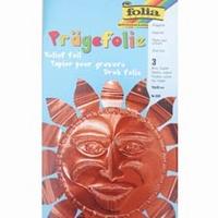 Metaalfolie Folia Pragefolie koper 520 3 vel A4