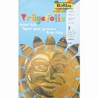 Metaalfolie Folia Pragefolie goud 521 3 vel A4